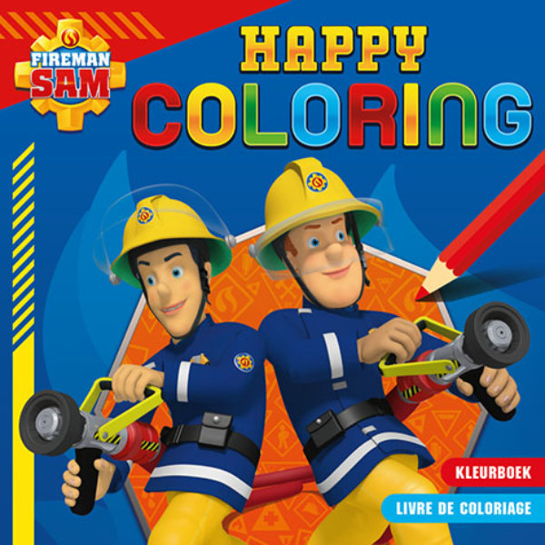 Brandweerman Sam happy color fun