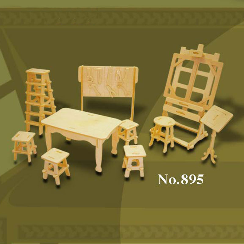 Bouwpakket hout kunst atelier 1:12 895