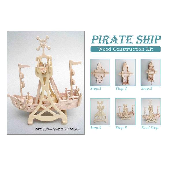 Bouwpakket hout Rockin Piratenschip 951