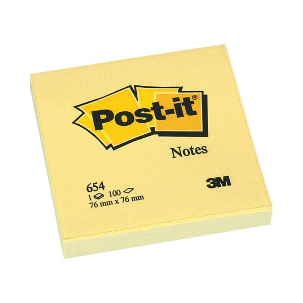 12 Post-It blokjes 76*76mm 654GE 100 vel