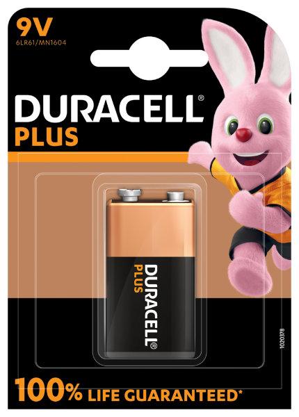 "10X1 Duracell 9V Blok ""plus"" 1600500039402329"