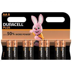 12x8 Duracell alkaline AA/LR6 op blister