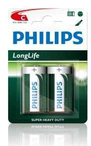12*2 Philips Engelse staaf batterij R14