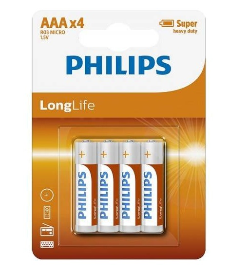 12*4 Philips potlood cell R03-AAA