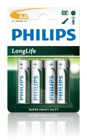 12*4 Philips penlite batterij R6-AA
