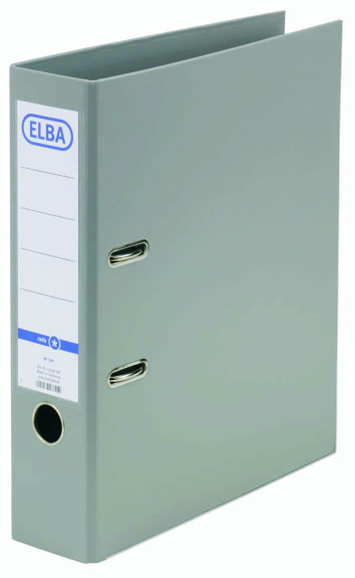 ELBA rado basic A4 80 mm pp/pp grijs