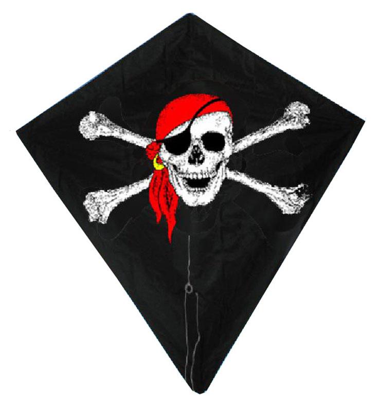 Diamant vlieger piraat 82x88 02263