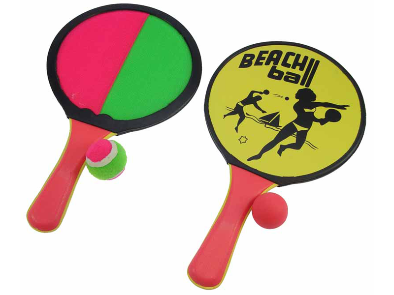 Beachball set hout 2 in 1  04207
