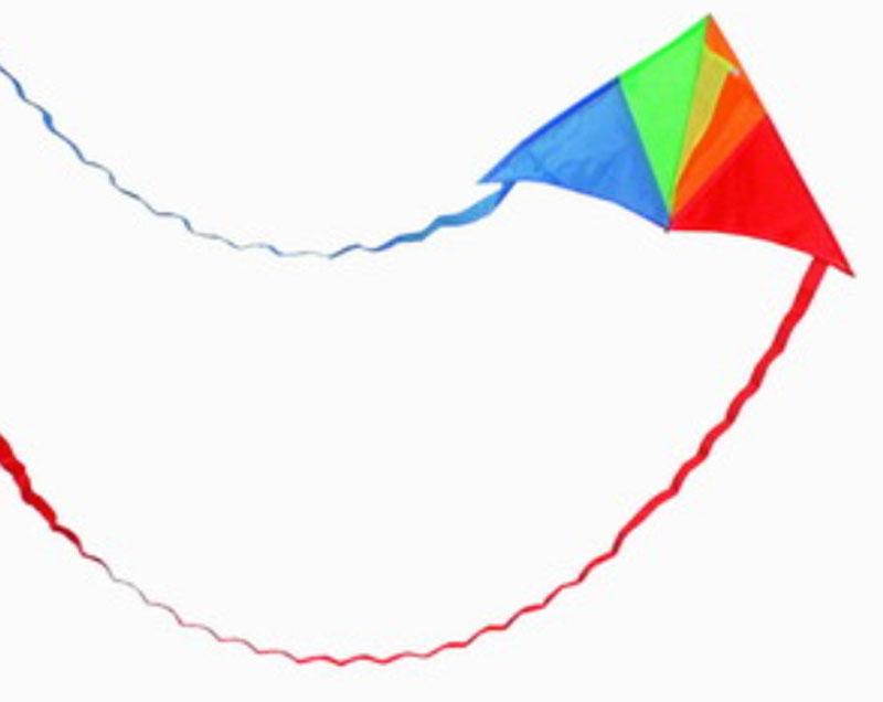 Delta vlieger met slierten 02264