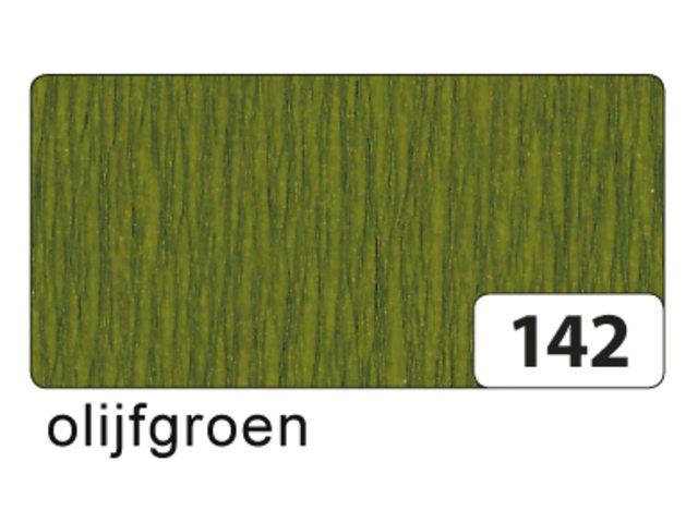 10 vel crepe folia olijfgroen 822142