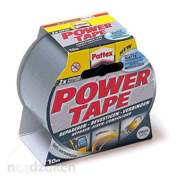 Pattex power tape 10m. zilver