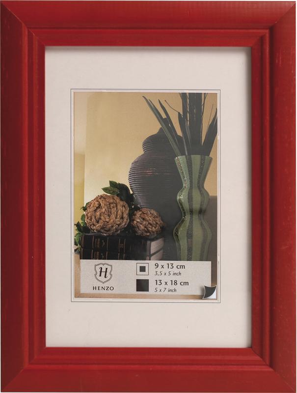 Henzo fotolijst artos 10x15cm. rood