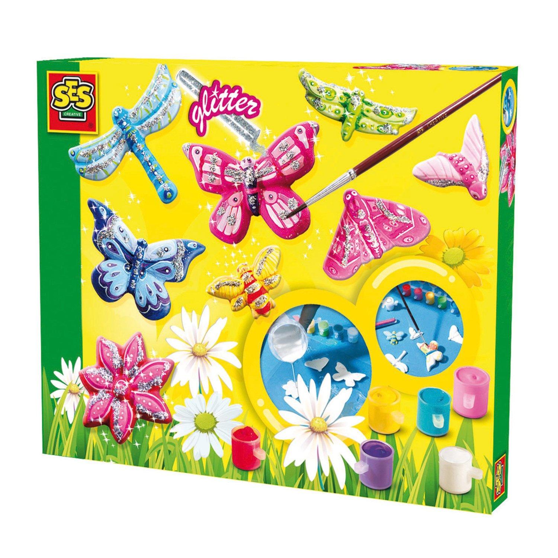 Ses Vlinders gieten en schilderen 01131