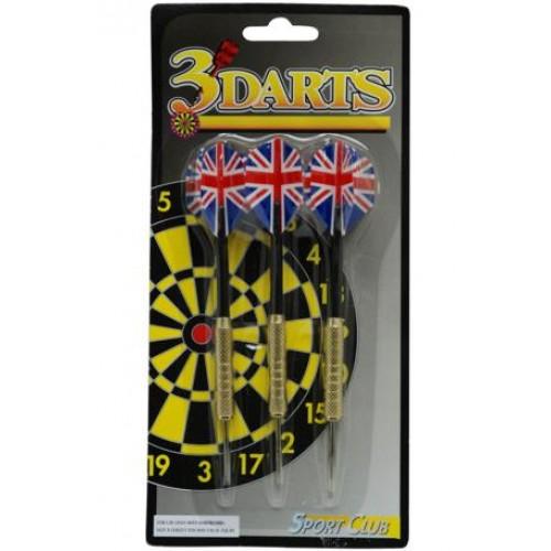 3 Dartpijlen 18 grams brass 305118