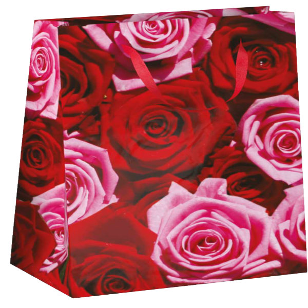 Papieren cadeau tas M Roses