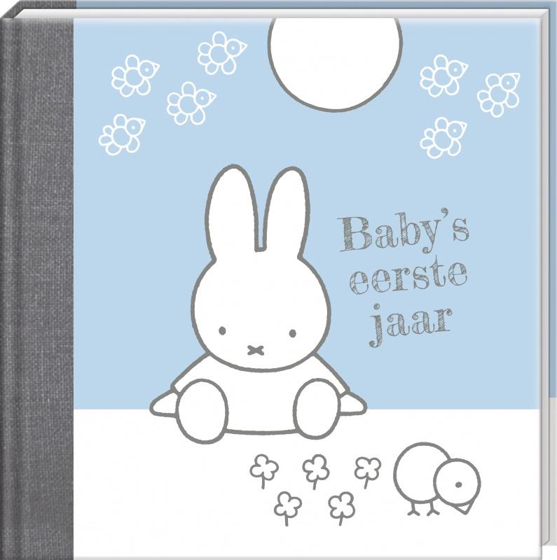 Nijntje babyboek babys eerste jaar blauw