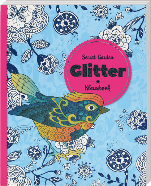 Glitter kleurboek secret garden 319137