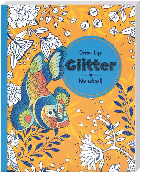 Glitter kleurboek ocean life 319144