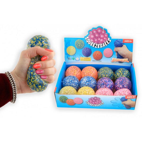 12 Squeezeballen 7 cm in display 8616