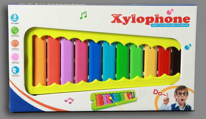 Xylofoon metaal in doos 8543