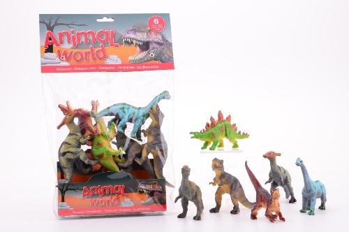 6 dinosaurussen in zak 26778