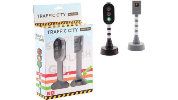 Verkeerslicht en flitspaal in doos 26083