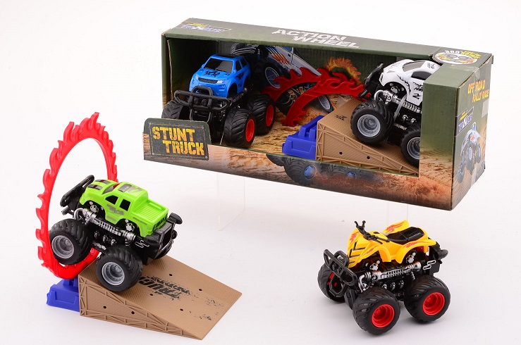 Off-road stunt racers in doos 26028