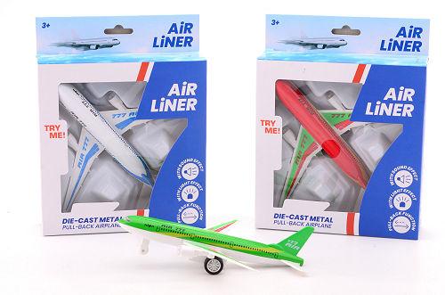 Vliegtuig die-cast licht+geluid 26071