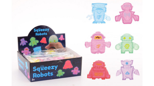 15 squeezy robot in display 24333
