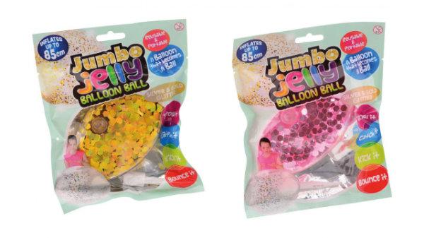 Opblaasbare bubbelbal met glitter 24338
