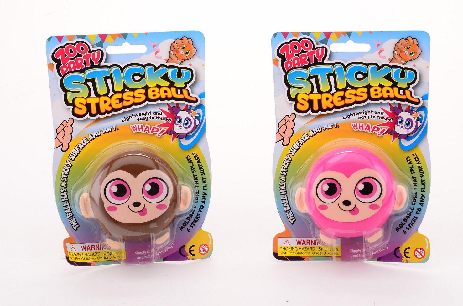 Sticky stretchbal aap op kaart 24352
