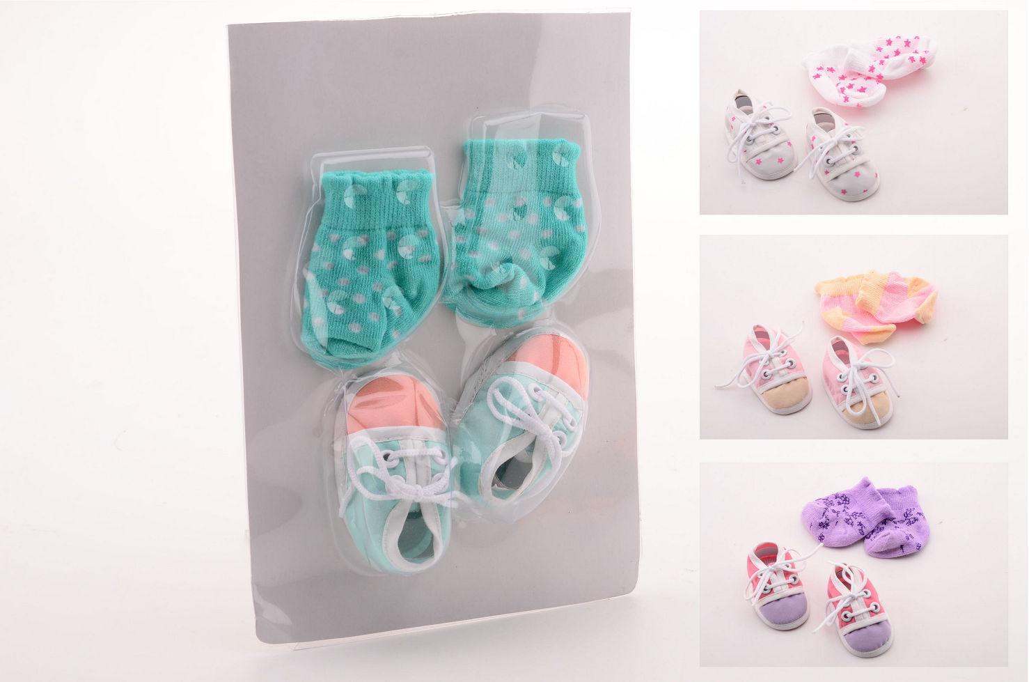 Baby rose poppensokken en schoenen 27635