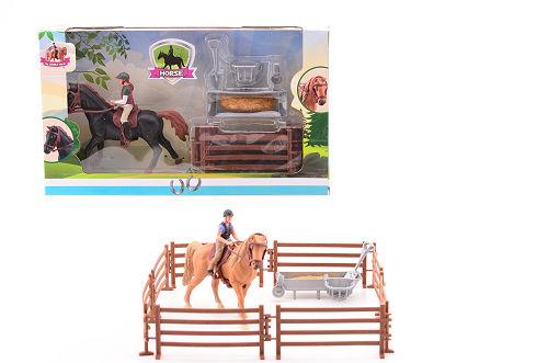 Paarden speelset medium 27604 2 ass.