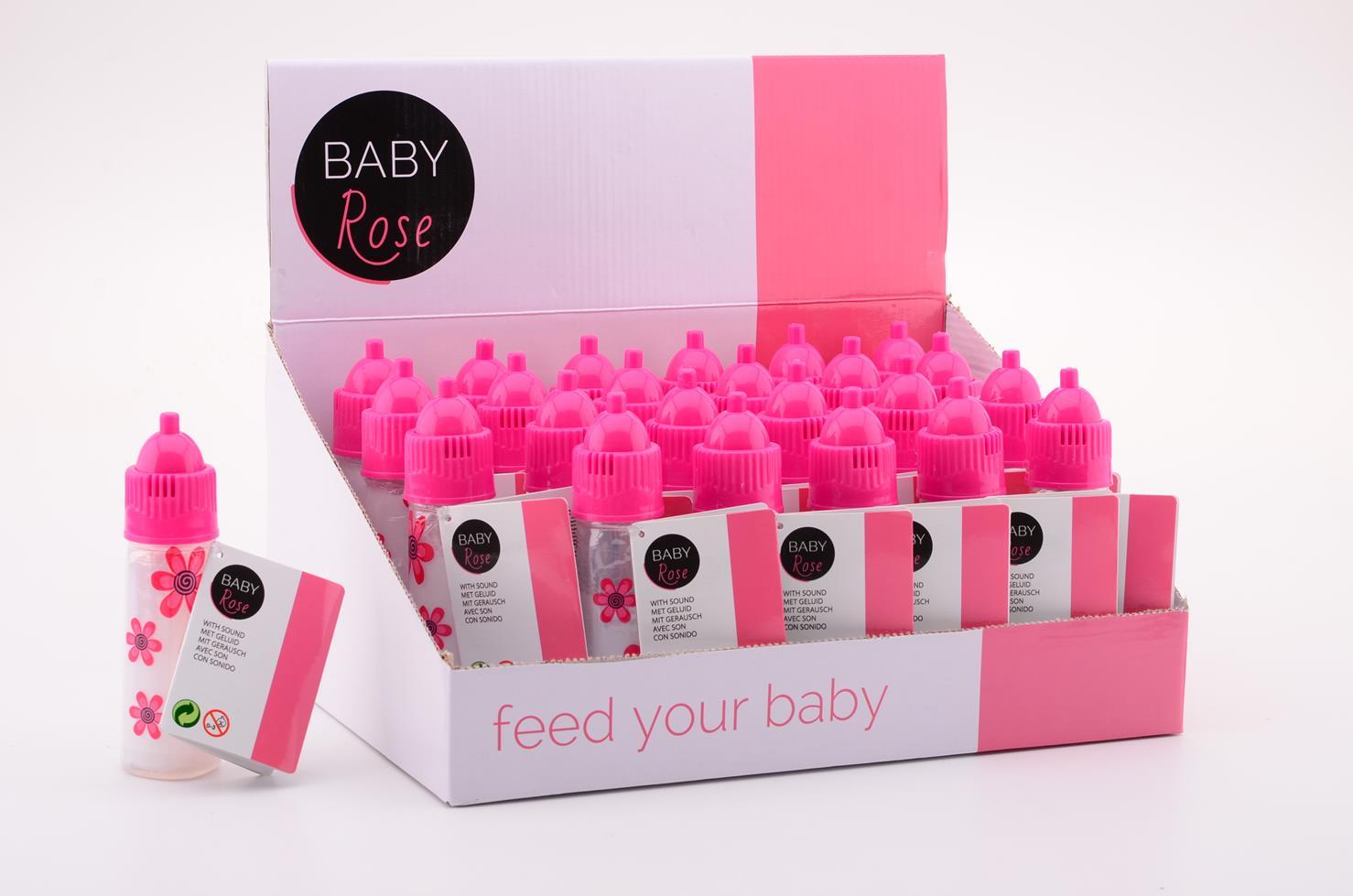Baby rose zuigfles met geluid 27570