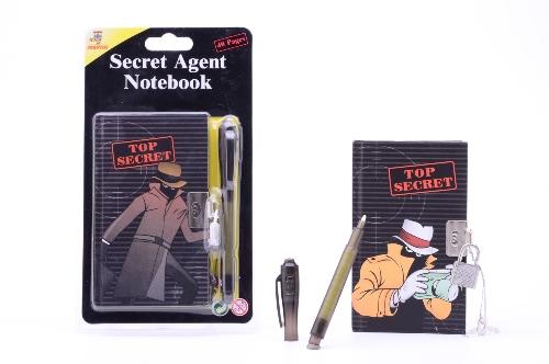 Secret agent blokje + geheime pen 26684