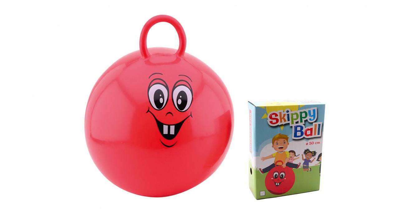Skippybal 50 cm in doos 2 ass. 29386