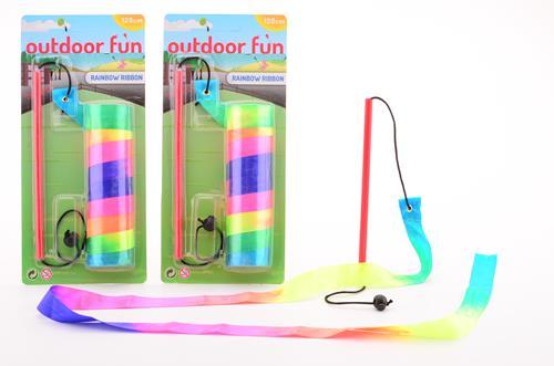 Outdoor fun rainbow ribbon 29532