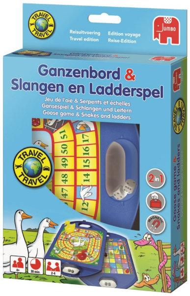 Jumbo Travel ganzenbord/ ladderspel12765