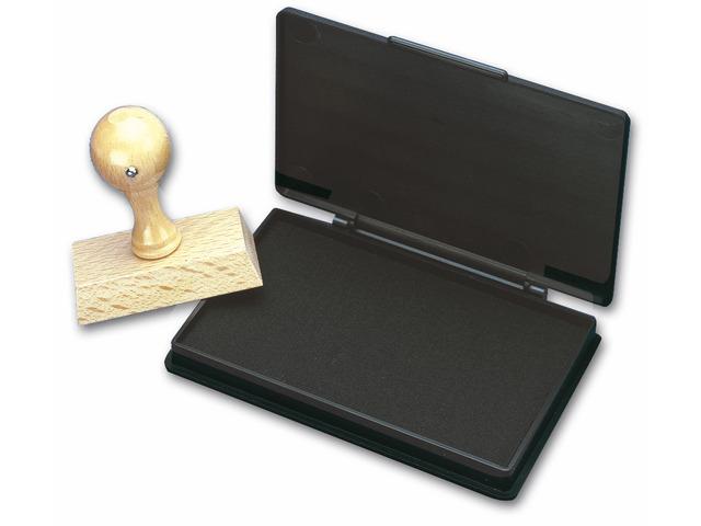 Stempelkussen 7x11cm Kores Zwart