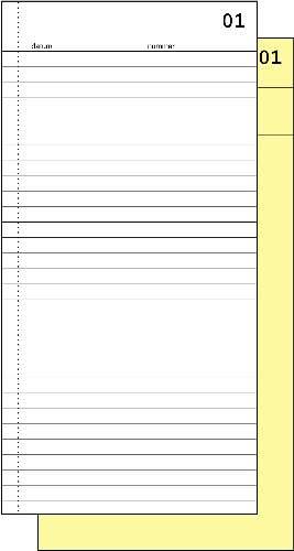 Expres order/commissieboekje 30020