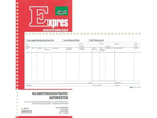 Express kilometerregistratie spiraalblok