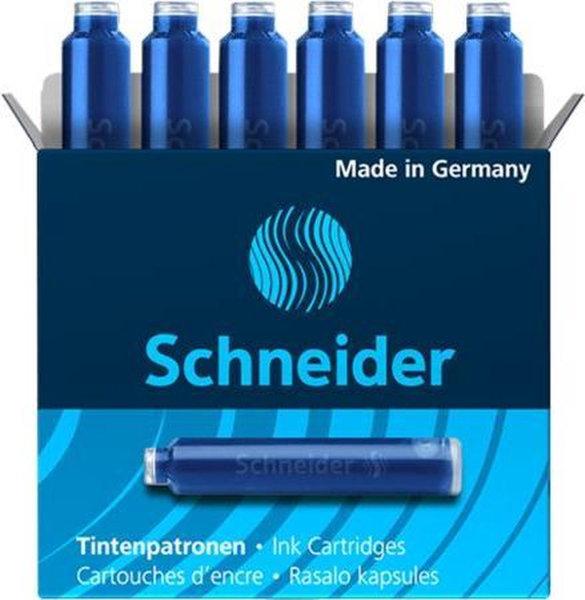 6 inktpatronen Schneider blauw 6603