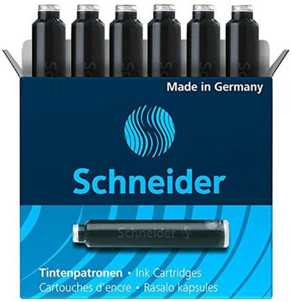 6 inktpatronen Schneider zwart 6601