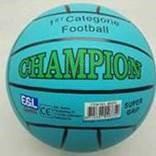 Rubberen voetbal Champion 380gr.L. blauw