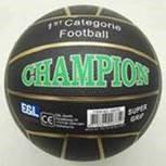 Rubberen voetbal Champion 380 gram zwart