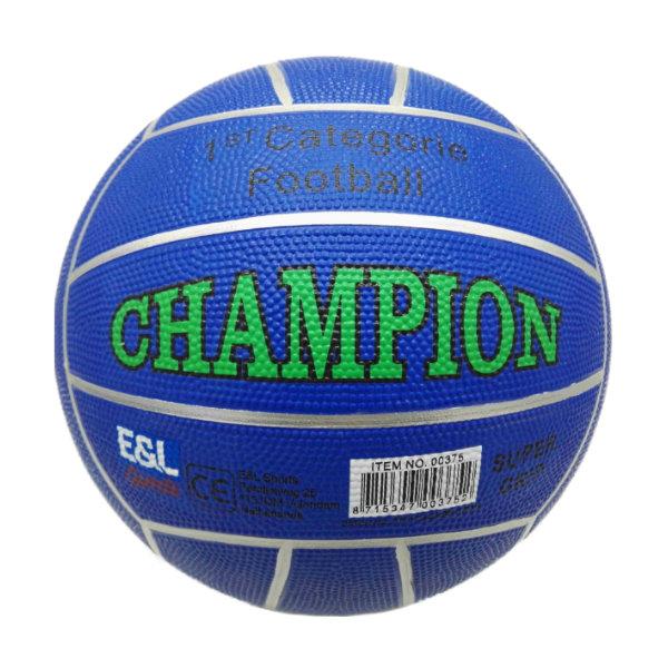 Rubberen voetbal Champion 380gr.D. blauw