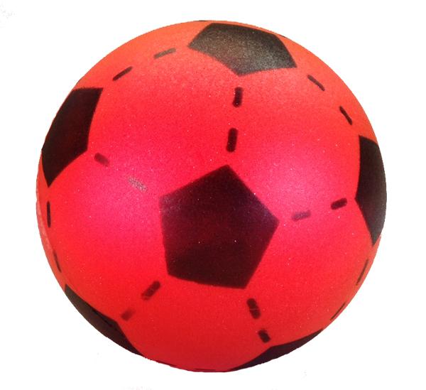 Foam voetbal rood 20 cm.