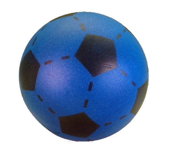Foam voetbal blauw 20 cm.