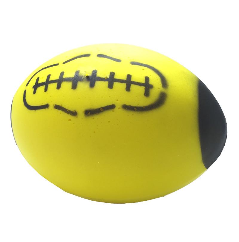 Foam rugby bal geel 24.5*18 cm