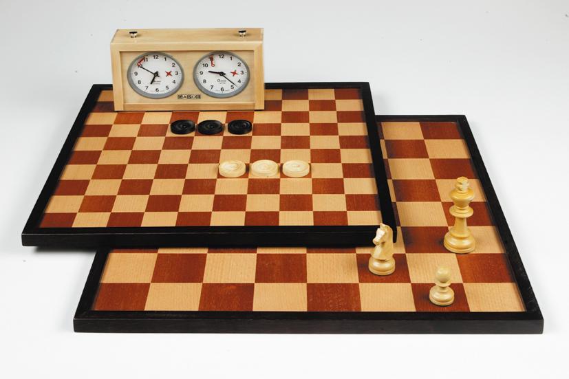 Dam-Schaakbord 42 cm luxe 170487